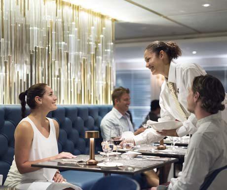 Fine Dining onboard Crystal Esprit