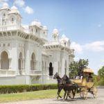 Horse carriage at Taj Falaknuma Palace Hyderabad India