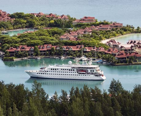 Luxury Yacht Cruising around the Seychelles on Crystal Esprit