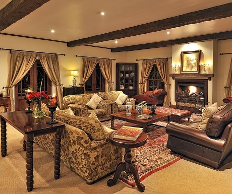Manor lounge, Ngorongoro Conservancy