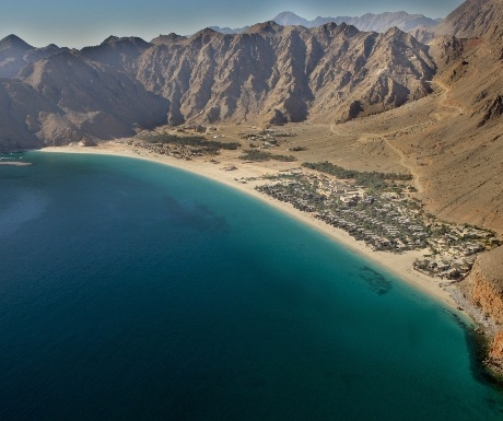 Paragliding into Six Senses Zighy Bay Oman