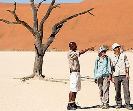 Walking safari Kulala Desert Lodge