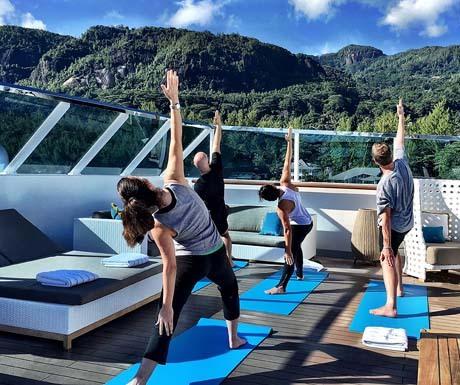 Yoga onboard Crystal Esprit