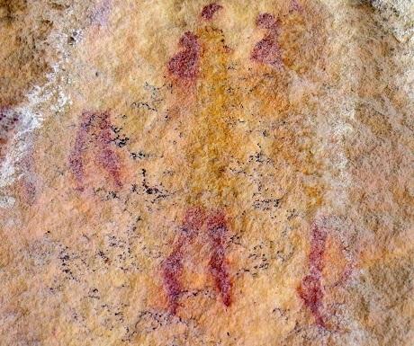 Kagga Kamma, rock art, two figures