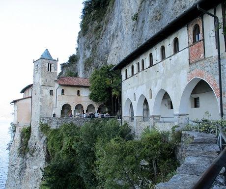 Get me to the church in time, Santa Catherina del Sasso, Lake Maggiore, Italy