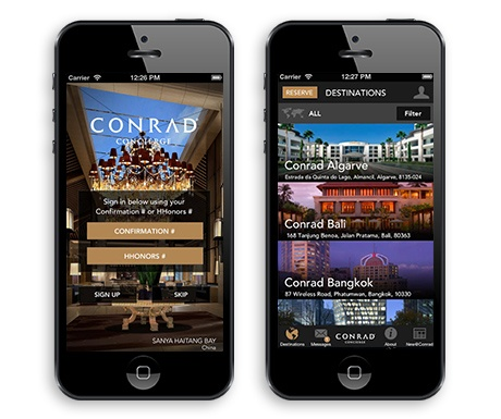conradconcierge, travel apps