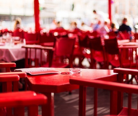 Senequier cafe in St Tropez