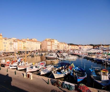 Fishing boats in St Tropez, France