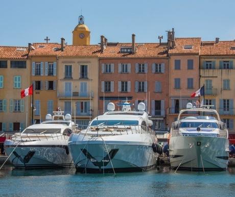 Superyachts in Port de Saint-Tropez