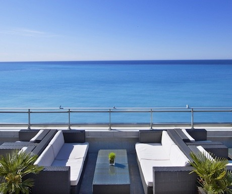 Terrace of Meridien hotel, Nice, France