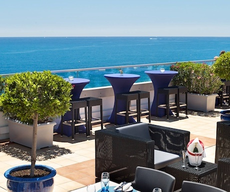 Radisson hotel rooftop in Nice, France