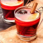 Spiced apple cider apres ski drink