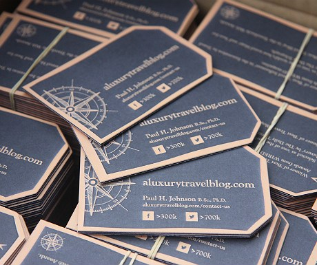 A Luxury Travel Blog business cards