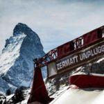 View across the main tent Zermmat unplugged