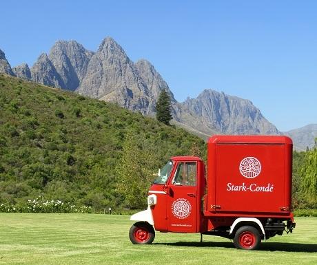 7 Restaurants Cape Winelands Postcard red truck
