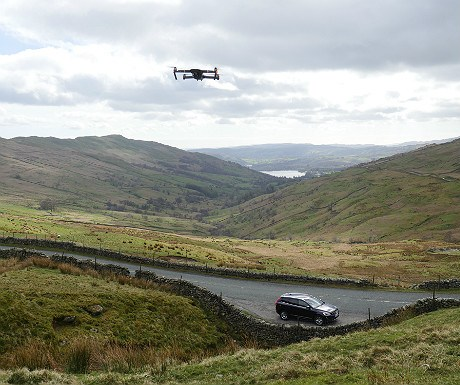 Kirkstone Pass and drone
