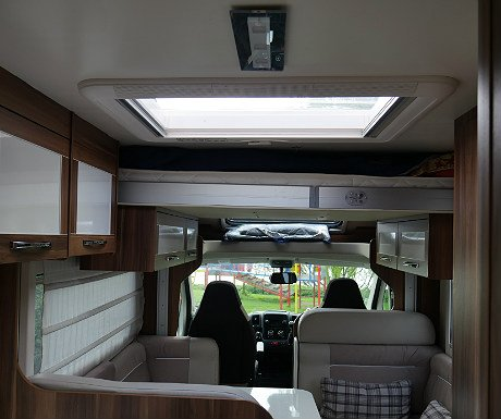 Motorhome bed up