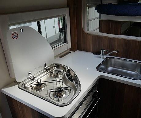 Motorhome kitchen hob