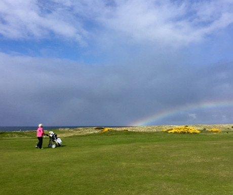 Turnberry golf rainbow