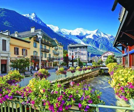 Chamonix in full summer bloom