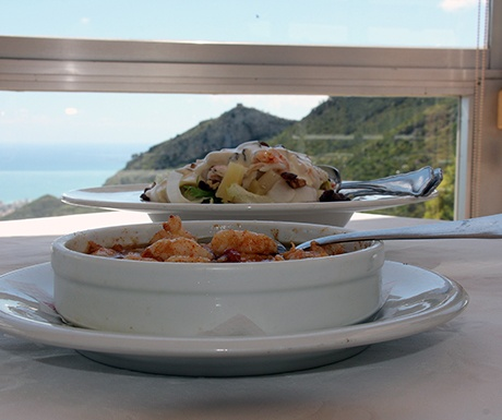 Desierto de las Palmas views and food