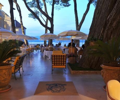 La Vague d'Or restaurant in St Tropez