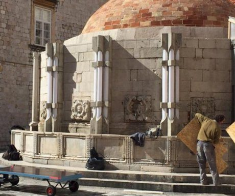 Onofrio's fountain during Star Wars VIII filming