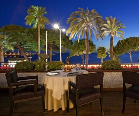 Palme d'Or restaurant at Hotel Martinez in Cannes