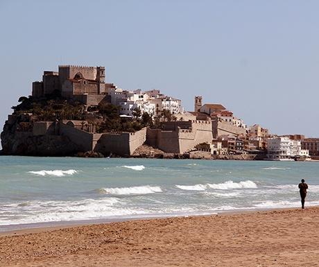 Peniscola Spain beach and castle