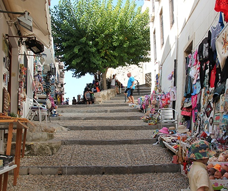 Peniscola Spain old quarter colourful cobbled streets