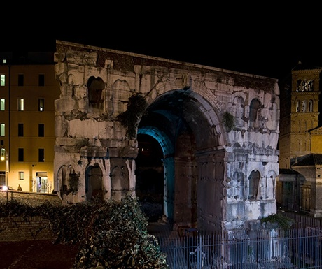 Rome Arch of Janus Residence Palazzo al Velabro