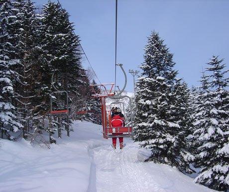 Ski lift in Niseko, Japan