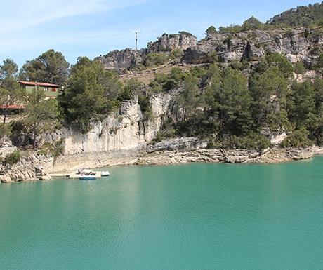 Ulldecona dam Els Ports natural park