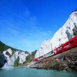 Majestic luxury train ride Alps