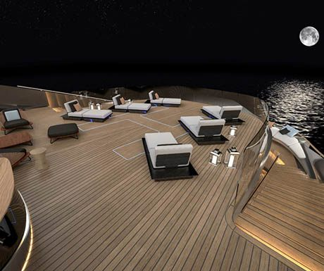 Aurea superyacht deck