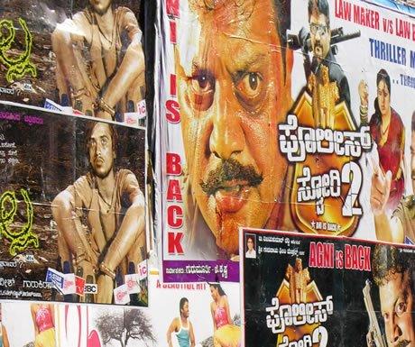 Bollywood posters, Mumbai, India