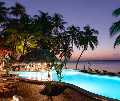 Calala private island infinity pool