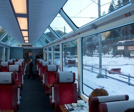 Luxury train ride - Glacier Express