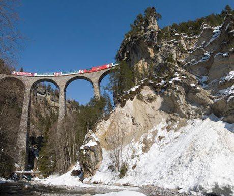 Train ride Alps scenery
