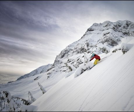Skier in Fernie