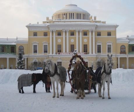 Troika-snow-Pavlovsk-Park