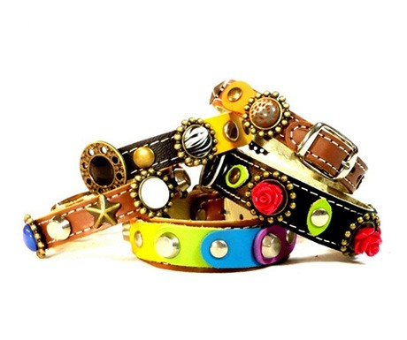 bohemian chic bracelets that match your dog's collar
