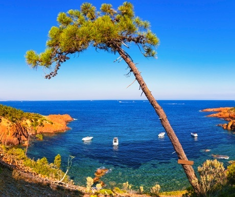 The Esterel coast in the south of France
