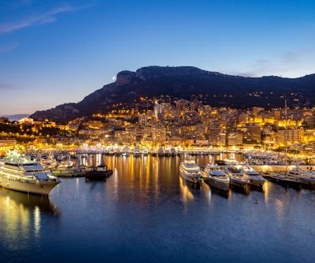 Yachts in Port Hercule, Monaco