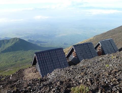 Mount Nyiragongo Hke cabins for overnight