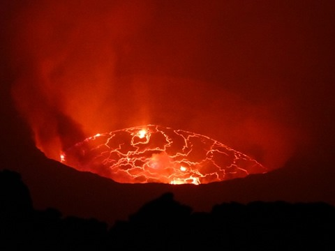 Mount Nyiragongo Volcano Lava