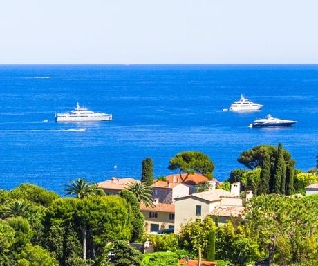 Yachts in Cap Ferrat, France