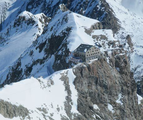 Head for heights - hut on the edge of a cliff face
