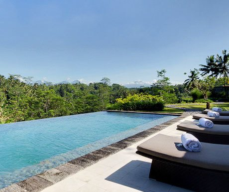 Ubud infinity pool at Villa Kelusa