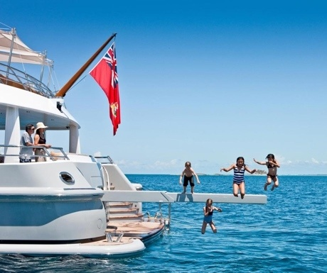 Kids on luxury yacht charter